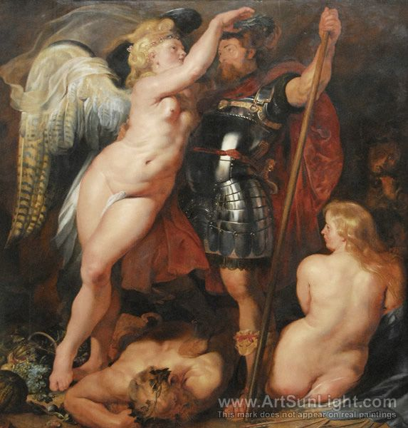 Champion-of-virtue-mars-crowned-by-the-goddess-of-victory